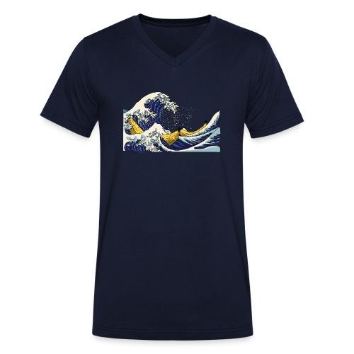 De golf van Banana - Mannen bio T-shirt met V-hals van Stanley & Stella