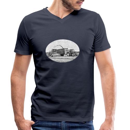 Sillageernte - Männer Bio-T-Shirt mit V-Ausschnitt von Stanley & Stella