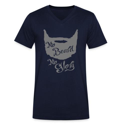 No Beard No Glory - Mannen bio T-shirt met V-hals van Stanley & Stella