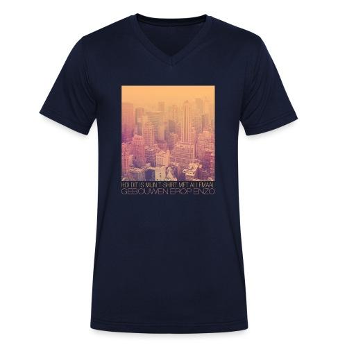 Gebouwen enzo - Mannen bio T-shirt met V-hals van Stanley & Stella