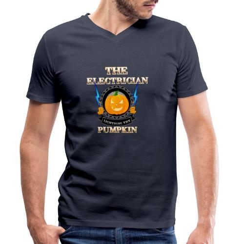 The Electrican lightning the Pumpkin - Männer Bio-T-Shirt mit V-Ausschnitt von Stanley & Stella