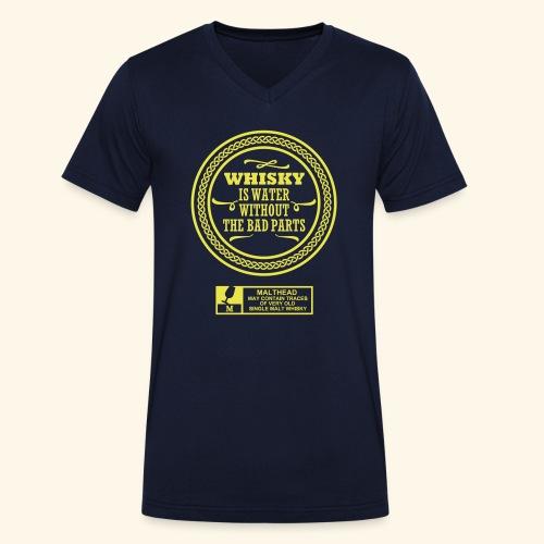 Whisky is water - Männer Bio-T-Shirt mit V-Ausschnitt von Stanley & Stella