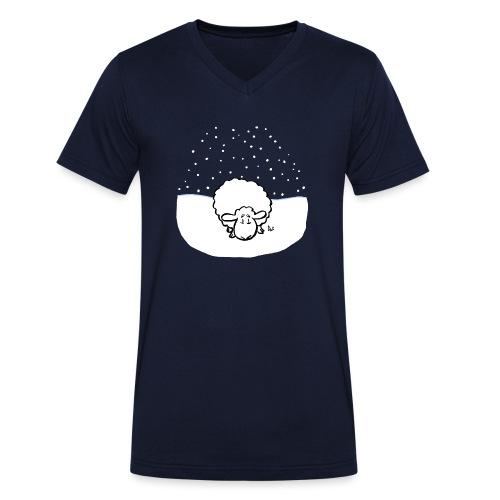 Snowy Sheep - Men's Organic V-Neck T-Shirt by Stanley & Stella
