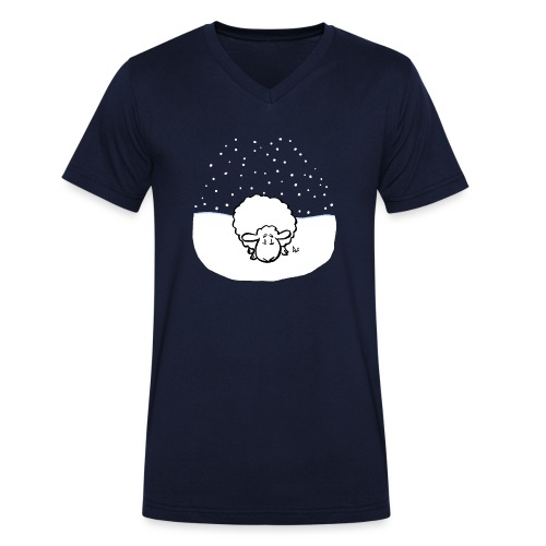 Schneebedeckte Schafe - Männer Bio-T-Shirt mit V-Ausschnitt von Stanley & Stella