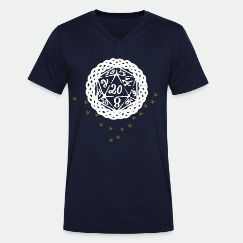 Snowflake Starglitter - Men's Organic V-Neck T-Shirt by Stanley & Stella