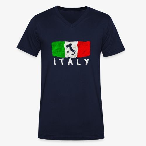 Italien - Männer Bio-T-Shirt mit V-Ausschnitt von Stanley & Stella