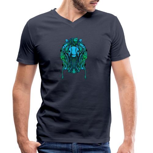 Blobcat Design - Men's Organic V-Neck T-Shirt by Stanley & Stella