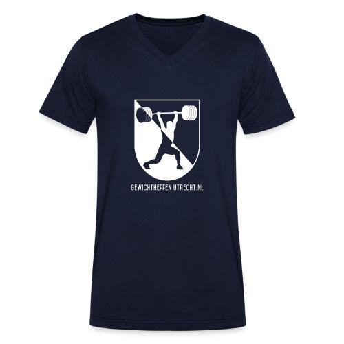 Modern Logo - Mannen bio T-shirt met V-hals van Stanley & Stella