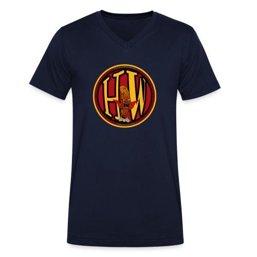 superhw stikker incl worst png - Men's Organic V-Neck T-Shirt by Stanley & Stella