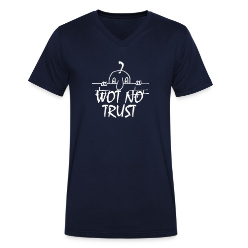 WOT NO TRUST - Men's Organic V-Neck T-Shirt by Stanley & Stella