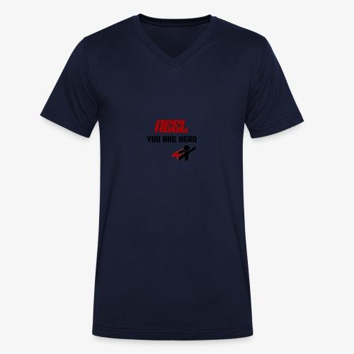 NEEL You Are Hero - Ekologiczna koszulka męska z dekoltem w serek Stanley & Stella