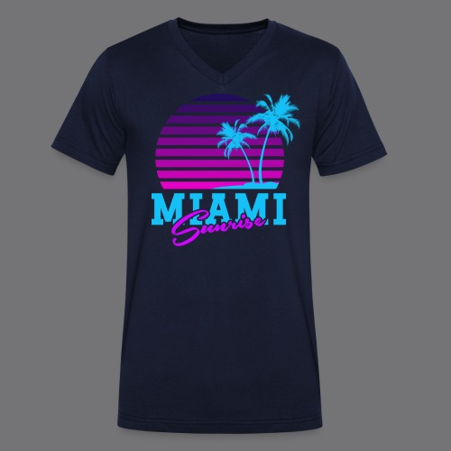 MIAMI SUNRISE t-shirts - Men's Organic V-Neck T-Shirt by Stanley & Stella