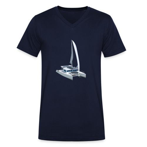 3D Katamaran - Männer Bio-T-Shirt mit V-Ausschnitt von Stanley & Stella