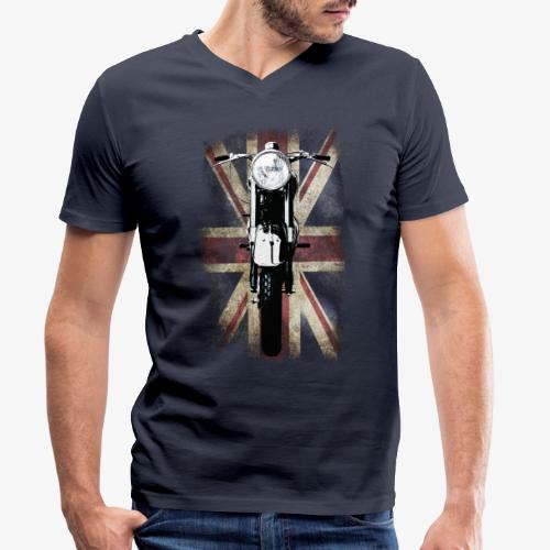 Vintage Motor Cycle BSA feature patjila - Men's Organic V-Neck T-Shirt by Stanley & Stella