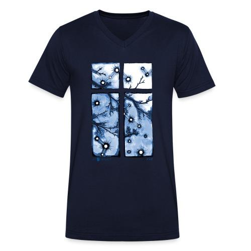 Für immer und ein Tag (blau) - Männer Bio-T-Shirt mit V-Ausschnitt von Stanley & Stella