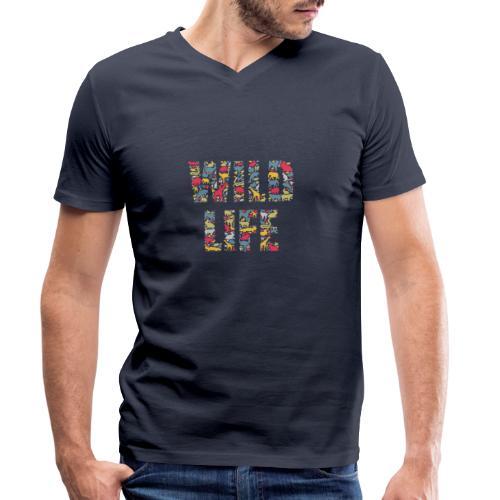 Wild Life - Männer Bio-T-Shirt mit V-Ausschnitt von Stanley & Stella