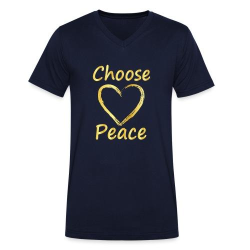 Choose Peace - Men's Organic V-Neck T-Shirt by Stanley & Stella