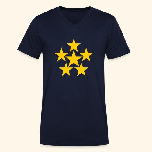 5 STERN gelb - Männer Bio-T-Shirt mit V-Ausschnitt von Stanley & Stella