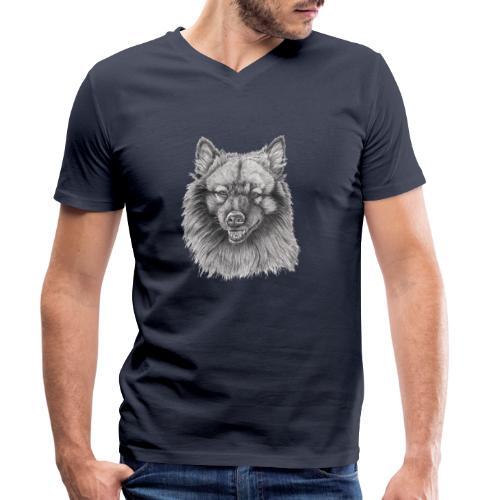 Keeshond - grossspitz - Økologisk Stanley & Stella T-shirt med V-udskæring til herrer