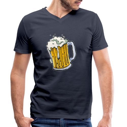 Boccale Birra - T-shirt ecologica da uomo con scollo a V di Stanley & Stella