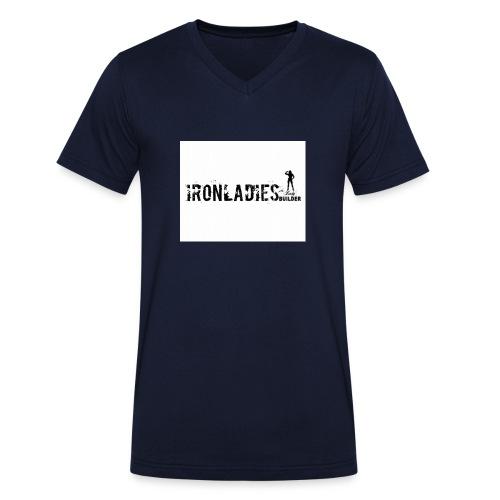IRONLADIES.LOGO, - T-shirt ecologica da uomo con scollo a V di Stanley & Stella