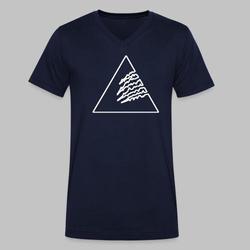 3white-umriss - Männer Bio-T-Shirt mit V-Ausschnitt von Stanley & Stella