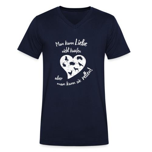 Liebe retten ♥ - Männer Bio-T-Shirt mit V-Ausschnitt von Stanley & Stella