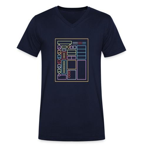 Dnd Character Sheet - T-shirt ecologica da uomo con scollo a V di Stanley & Stella