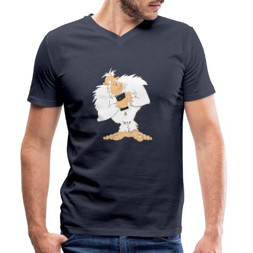 Mobile Yeti Big - Männer Bio-T-Shirt mit V-Ausschnitt von Stanley & Stella