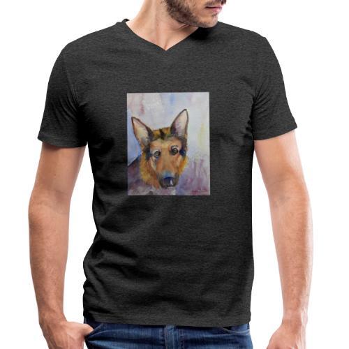 german shepherd wc - Økologisk Stanley & Stella T-shirt med V-udskæring til herrer