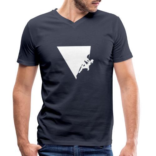 Klettern in Leonidio - Männer Bio-T-Shirt mit V-Ausschnitt von Stanley & Stella
