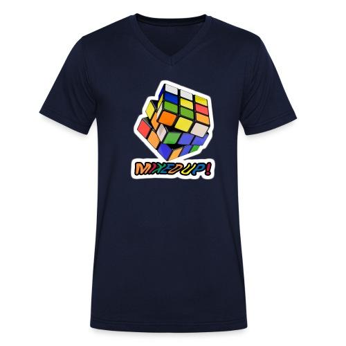 Rubik's Mixed Up! - Ekologisk T-shirt med V-ringning herr från Stanley & Stella