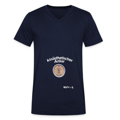 anker white png - Männer Bio-T-Shirt mit V-Ausschnitt von Stanley & Stella