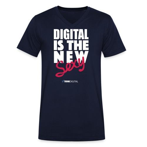 DIGITAL is the New Sexy - T-shirt ecologica da uomo con scollo a V di Stanley & Stella