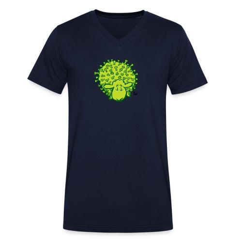 Virus oveja - Camiseta ecológica hombre con cuello de pico de Stanley & Stella