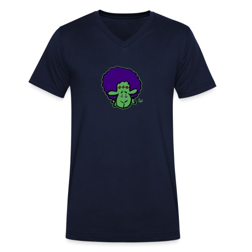 Frankensheep's Monster - Økologisk T-skjorte med V-hals for menn fra Stanley & Stella