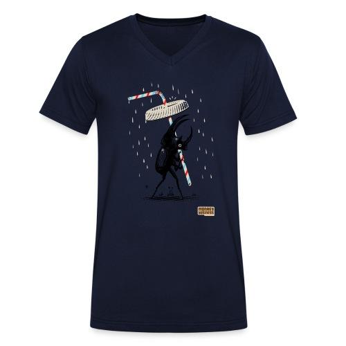 Femke Hiemstra - Mannen bio T-shirt met V-hals van Stanley & Stella