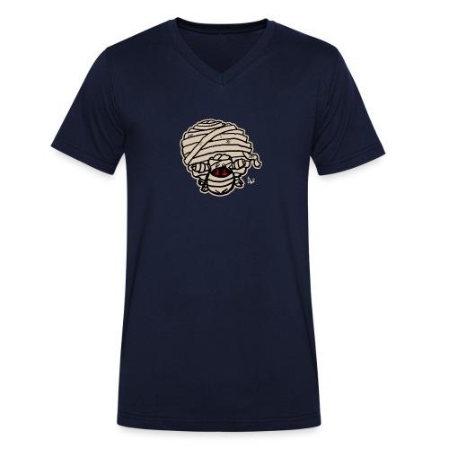 Mummy Sheep - Økologisk T-skjorte med V-hals for menn fra Stanley & Stella