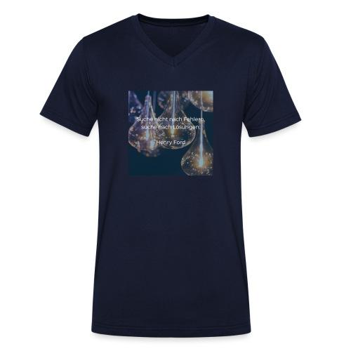 Lösungen statt Fehler - Männer Bio-T-Shirt mit V-Ausschnitt von Stanley & Stella