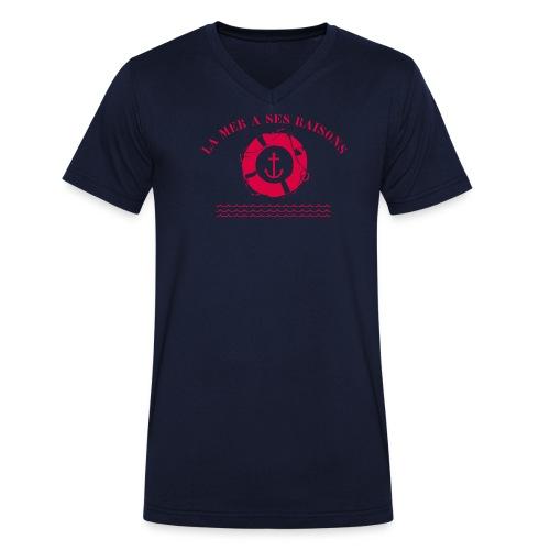 La mer a ses raisons - T-shirt bio col V Stanley & Stella Homme