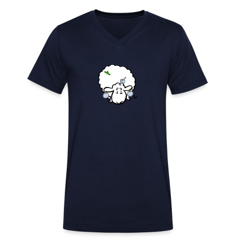 Juletre Sau - Økologisk T-skjorte med V-hals for menn fra Stanley & Stella