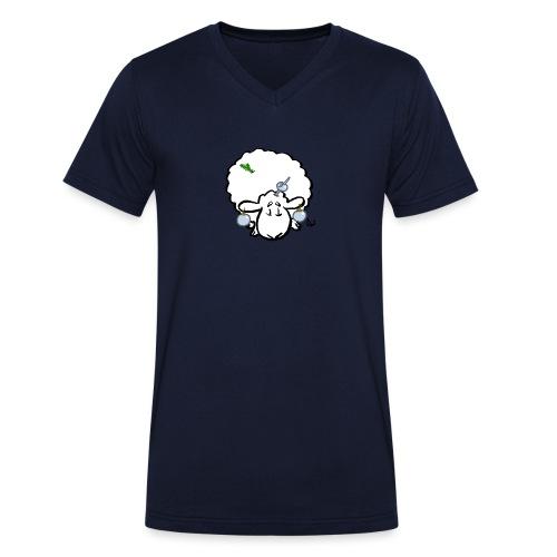 Pecore dell'albero di Natale - T-shirt ecologica da uomo con scollo a V di Stanley & Stella