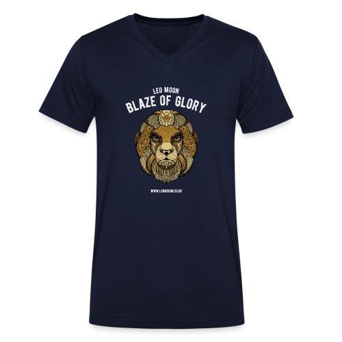 Leo Moon Dark - Men's Organic V-Neck T-Shirt by Stanley & Stella