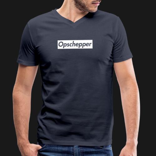 Opschepper Classic Wit - Mannen bio T-shirt met V-hals van Stanley & Stella