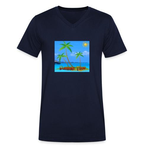 Cool summer coconu - Mannen bio T-shirt met V-hals van Stanley & Stella