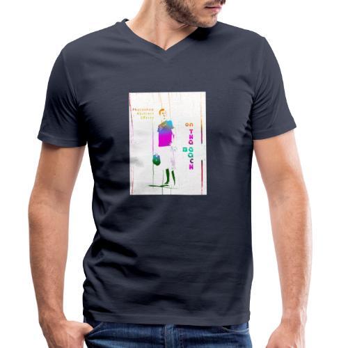 onthebeach - Ekologiczna koszulka męska z dekoltem w serek Stanley & Stella