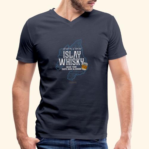Whisky Spruch Islay - Make Your Taste Buds Blossom - Männer Bio-T-Shirt mit V-Ausschnitt von Stanley & Stella