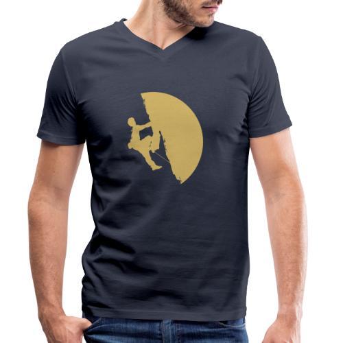 Tufa Kletterer gelb - Männer Bio-T-Shirt mit V-Ausschnitt von Stanley & Stella