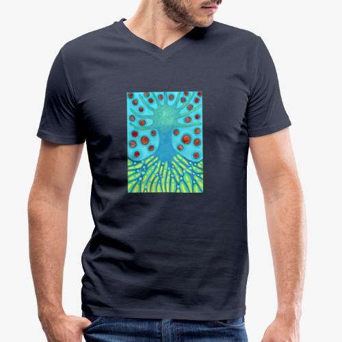 Drzewo I Planety - Ekologiczna koszulka męska z dekoltem w serek Stanley & Stella
