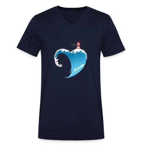 Ostseeherz - Männer Bio-T-Shirt mit V-Ausschnitt von Stanley & Stella